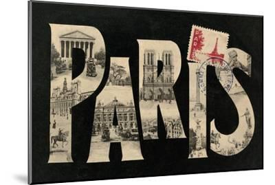 Postcard from Paris-Hugo Wild-Mounted Art Print