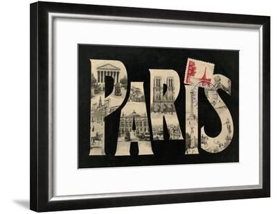 Postcard from Paris-Hugo Wild-Framed Art Print