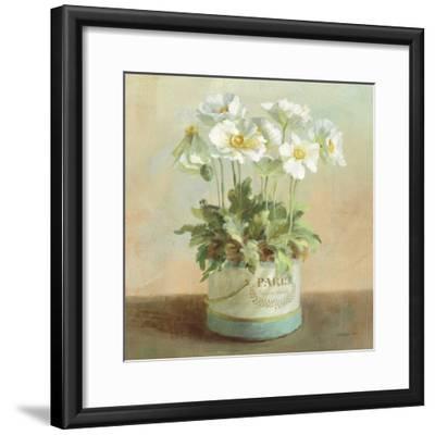 Tres Chic Poppies-Danhui Nai-Framed Art Print