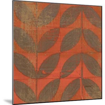 Orange Gold Leaves-Kathrine Lovell-Mounted Art Print