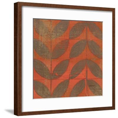 Orange Gold Leaves-Kathrine Lovell-Framed Art Print