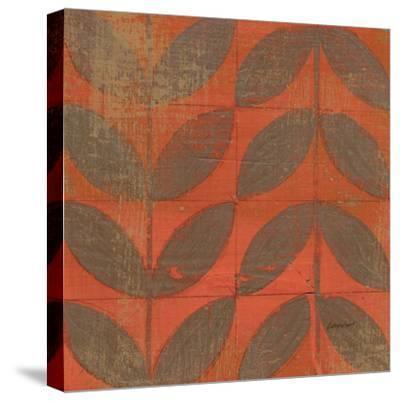 Orange Gold Leaves-Kathrine Lovell-Stretched Canvas Print