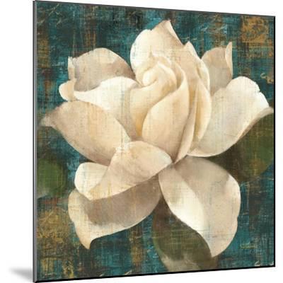 Gardenia Blossom Turquoise-Albena Hristova-Mounted Art Print