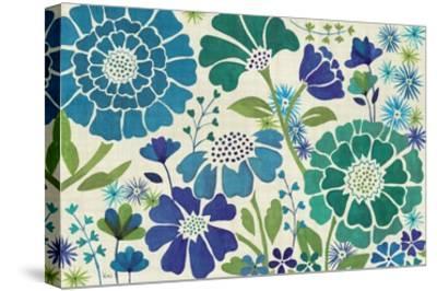 Blue Garden-Veronique Charron-Stretched Canvas Print