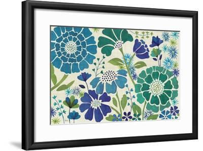 Blue Garden-Veronique Charron-Framed Premium Giclee Print