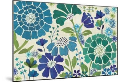 Blue Garden-Veronique Charron-Mounted Premium Giclee Print