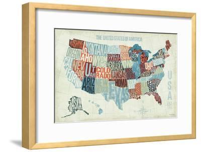 USA Modern Blue-Michael Mullan-Framed Premium Giclee Print
