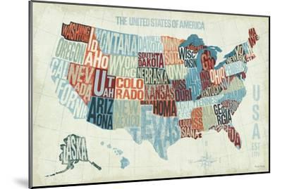 USA Modern Blue-Michael Mullan-Mounted Premium Giclee Print