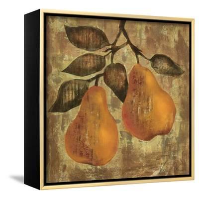 Pear-Silvia Vassileva-Framed Stretched Canvas Print