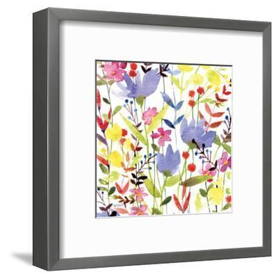 Annes Flowers Crop I-Anne Tavoletti-Framed Art Print