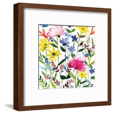 Annes Flowers Crop II-Anne Tavoletti-Framed Art Print