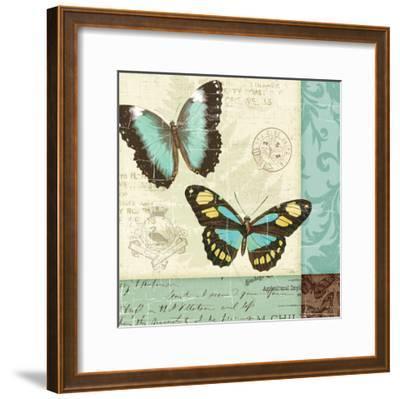 Butterfly Patchwork II-Pela Design-Framed Premium Giclee Print