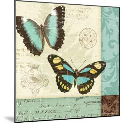 Butterfly Patchwork II-Pela Design-Mounted Premium Giclee Print