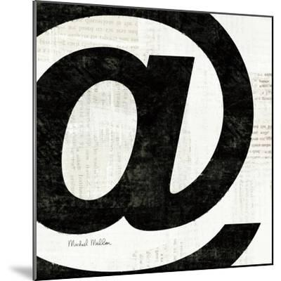 Punctuated Black Square V--Mounted Art Print