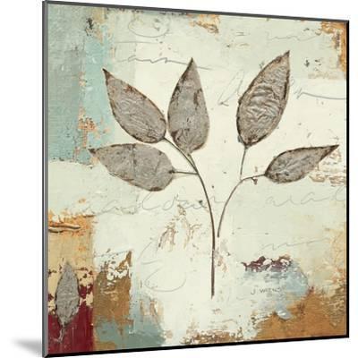 Silver Leaves III-James Wiens-Mounted Art Print