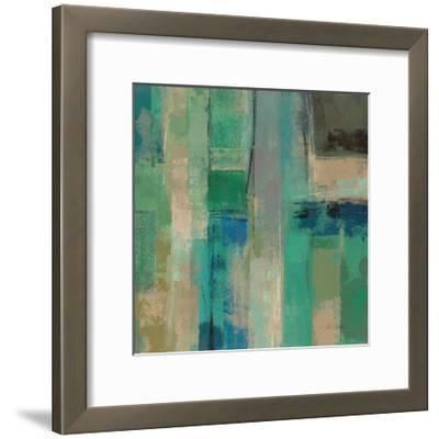 Emerald Fields Square II-Silvia Vassileva-Framed Art Print