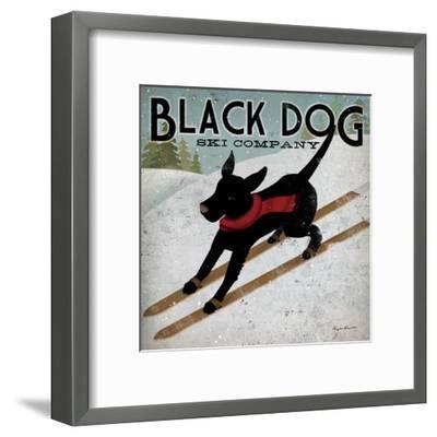Black Dog Ski-Ryan Fowler-Framed Art Print