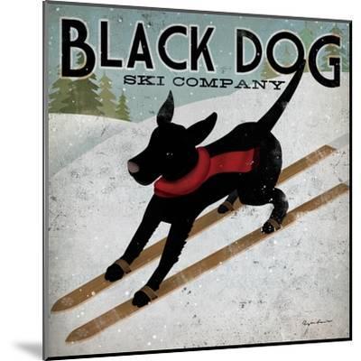 Black Dog Ski-Ryan Fowler-Mounted Art Print