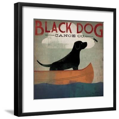 Black Dog Canoe-Ryan Fowler-Framed Premium Giclee Print