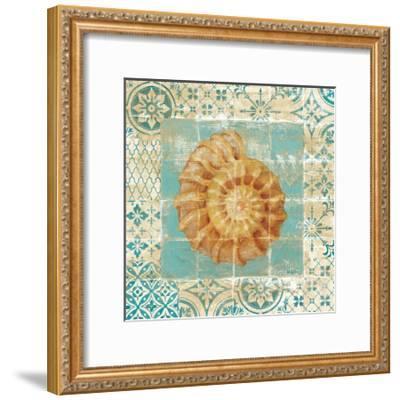 Shell Tiles I Blue-Danhui Nai-Framed Premium Giclee Print