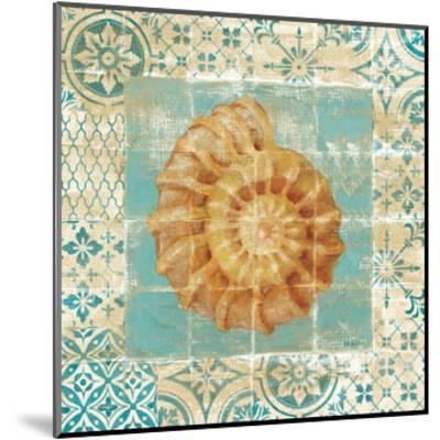 Shell Tiles I Blue-Danhui Nai-Mounted Premium Giclee Print