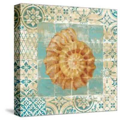 Shell Tiles I Blue-Danhui Nai-Stretched Canvas Print