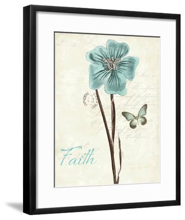 Slated Blue III Faith-Katie Pertiet-Framed Art Print