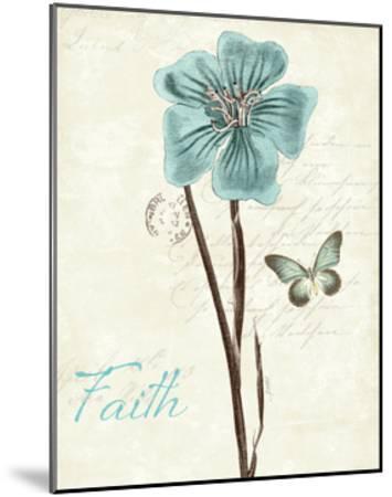 Slated Blue III Faith-Katie Pertiet-Mounted Art Print