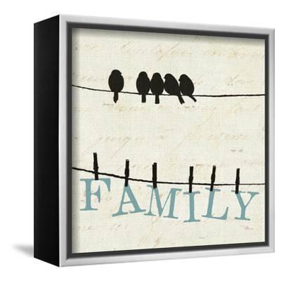 Bird Talk III-Pela Design-Framed Stretched Canvas Print