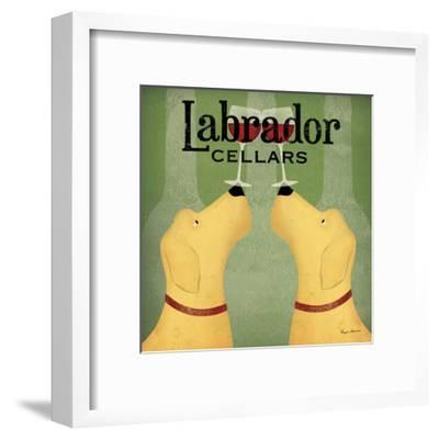 Two Labrador Wine Dogs Square-Ryan Fowler-Framed Art Print