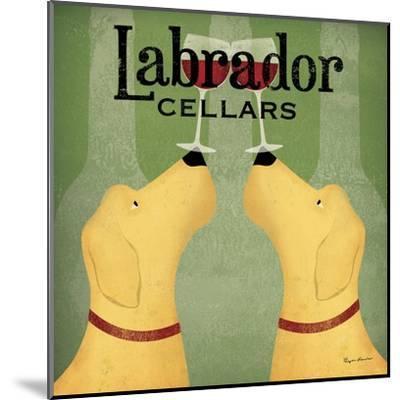 Two Labrador Wine Dogs Square-Ryan Fowler-Mounted Art Print