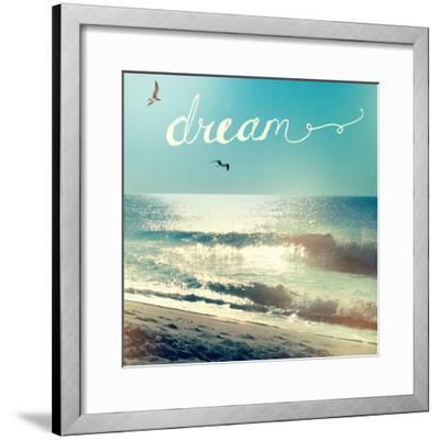 Coastline Waves-Sue Schlabach-Framed Premium Giclee Print
