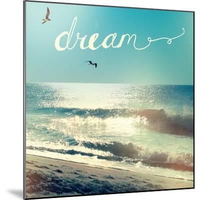 Coastline Waves-Sue Schlabach-Mounted Premium Giclee Print
