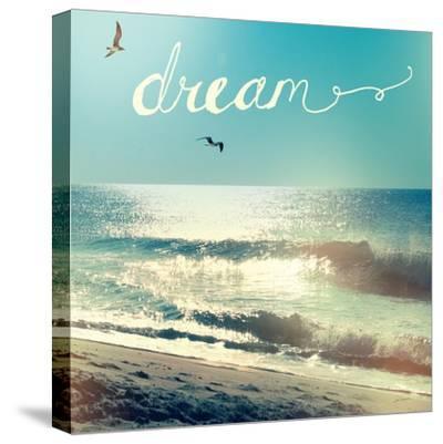 Coastline Waves-Sue Schlabach-Stretched Canvas Print