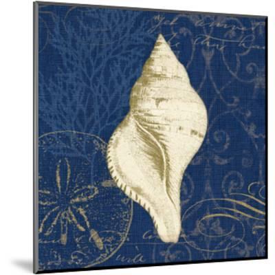 Coastal Moonlight IV Teal Center-Pela Design-Mounted Art Print