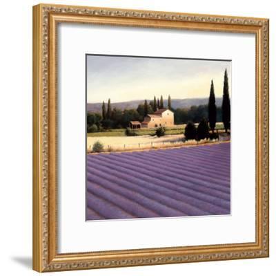Lavender Fields II Crop-James Wiens-Framed Art Print