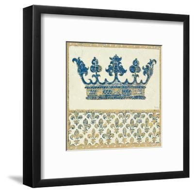 Regal Crown Indigo and Cream-Designs Meloushka-Framed Art Print