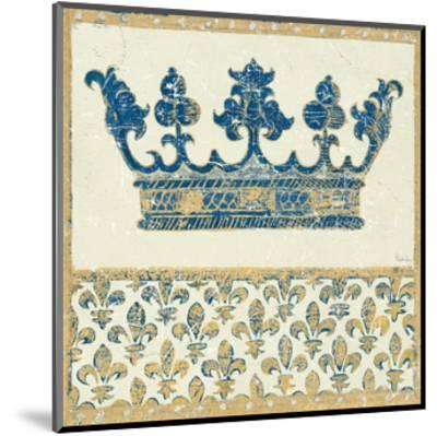 Regal Crown Indigo and Cream-Designs Meloushka-Mounted Art Print