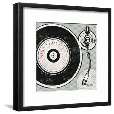 Vintage Analog Record Player-Michael Mullan-Framed Art Print