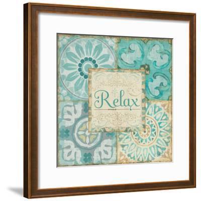 Ocean Tales Tile VI-Pela Design-Framed Art Print
