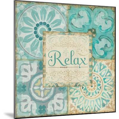 Ocean Tales Tile VI-Pela Design-Mounted Art Print