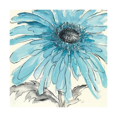 Gerbera Blue III-Chris Paschke-Art Print