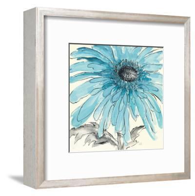 Gerbera Blue III-Chris Paschke-Framed Art Print