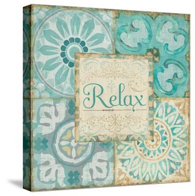 Ocean Tales Tile VI-Pela Design-Stretched Canvas Print
