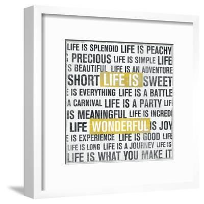 Life Is Yellow-Michael Mullan-Framed Art Print