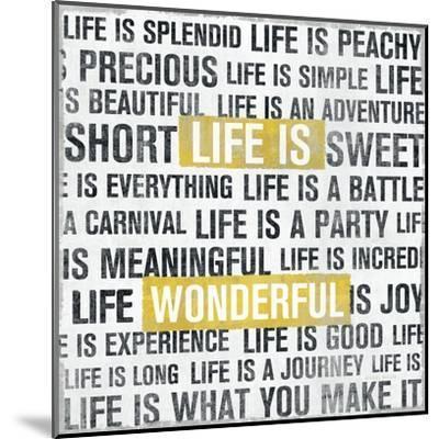 Life Is Yellow-Michael Mullan-Mounted Art Print