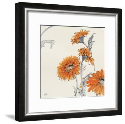 Orange Gerbera I-Chris Paschke-Framed Art Print