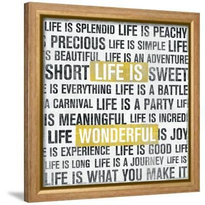Life Is Yellow-Michael Mullan-Framed Stretched Canvas Print