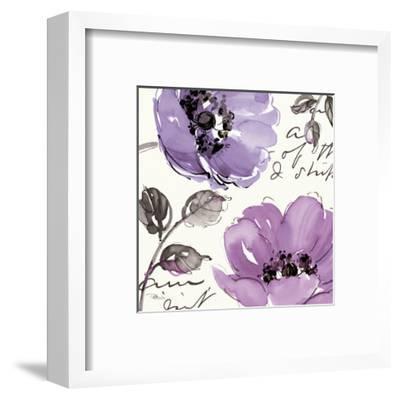 Floral Waltz Plum II-Jess Aiken-Framed Art Print