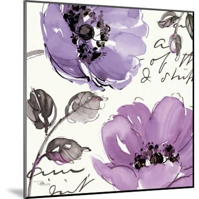 Floral Waltz Plum II-Jess Aiken-Mounted Art Print